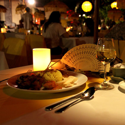 Bali Restarunt, Collections of dining venue  starting from Indonesian, Italian, Chinese, Indian at all inclusive bali resort