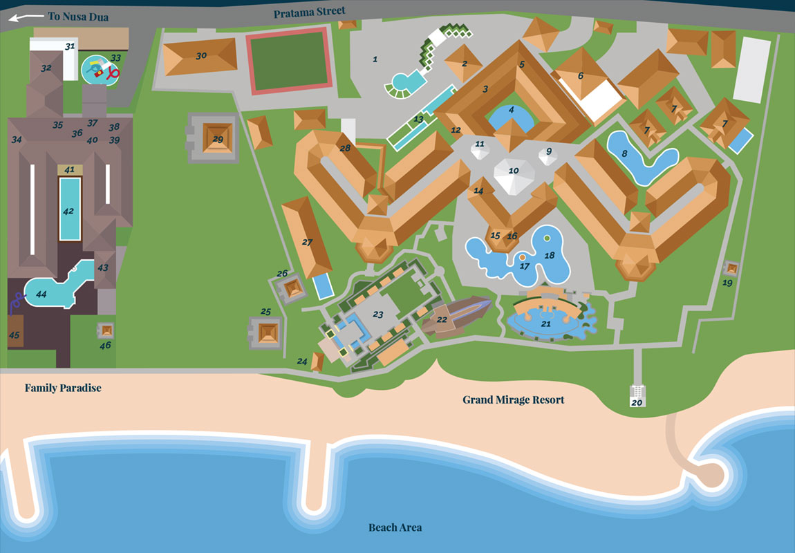 Grand Mirage Resort's map
