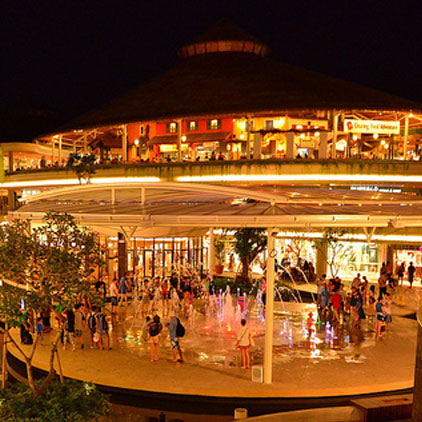 Beach Walk Shopping destination around Grand Mirage Resort, Shopping venue activities at Kuta area