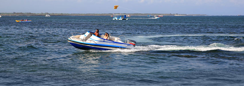 Bali water sport activities, motorized water sport activity for guest enjoyment