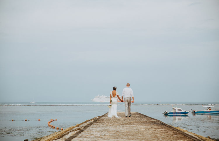 Beach wedding with the unobstructed beach as a background, Bali Beach Wedding Venue