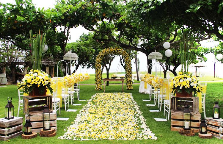 Bali Wedding Package Garden Ocean View Wedding Ceremony