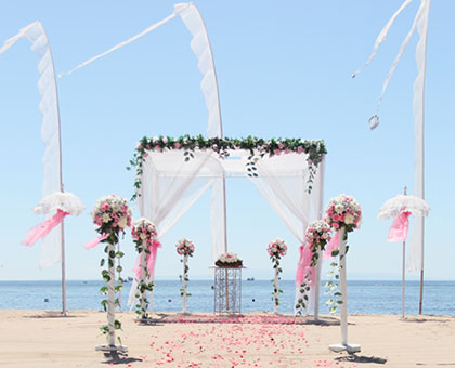 Bali beach wedding venue, Beach wedding with the unobstructed beach as a background