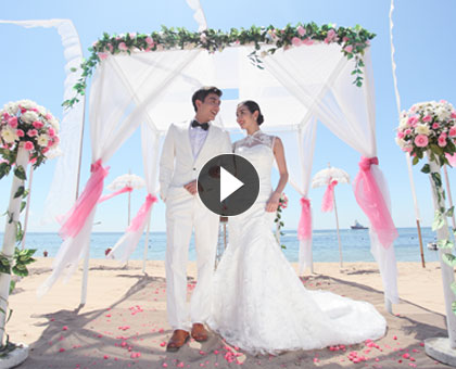 play wedding video, Remarkable wedding at Grand Mirage Resort