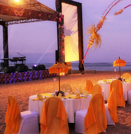 event on the beach - Cater for your memorable and successful event