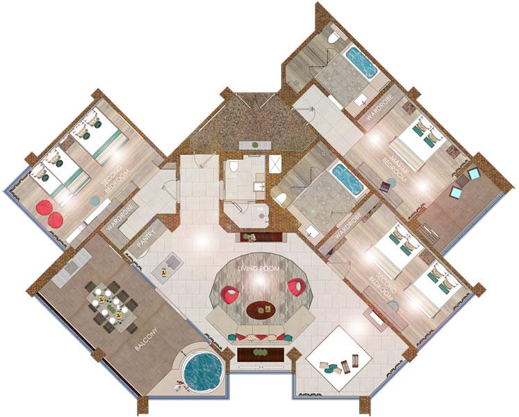 Apartment Room Builder bali 3 bedroom ocean view apartment at grand mirage resort